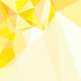 Fond géométrique de triangle jaune abstraite Image stock