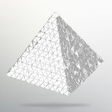 Fond géométrique de triangle Pyramide 3d chaotique abstraite Illustration EPS10 de vecteur Image stock