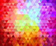 Fond géométrique de triangles Images stock
