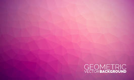 Fond géométrique de triangles de vecteur Photos libres de droits