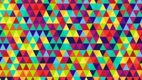 Fond géométrique de triangles lumineuses de couleur Photos stock