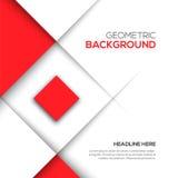 Fond géométrique du rouge 3D Photo libre de droits