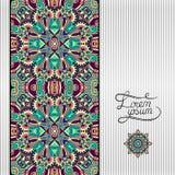 Fond géométrique floral, ornamental de vintage Images stock