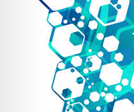 Fond géométrique génial bleu Photos stock