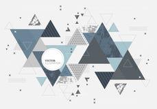 Fond géométrique minimal abstrait Conception futuriste de vecteur illustration libre de droits