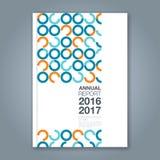 Fond géométrique minimal abstrait de conception de cercle pour la couverture de livre de rapport annuel d'affaires illustration libre de droits