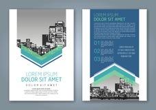 Fond géométrique minimal abstrait de conception de polygone de formes pour la couverture de livre de rapport annuel d'affaires Photo libre de droits