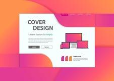 Fond géométrique minimal de bannière de site Web de développement de Web Photographie stock