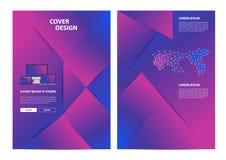Fond géométrique minimal de conception de brochure de vecteur Image stock