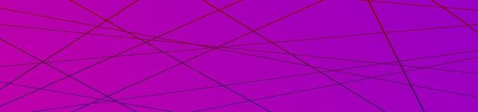 Fond géométrique minimaliste Bannière avec la ligne mince à la mode composition en formes de résumé illustration stock