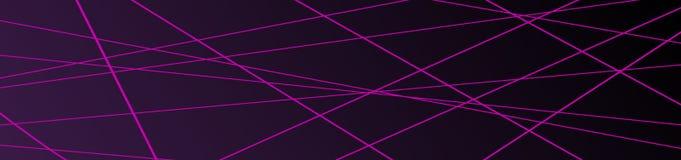 Fond géométrique minimaliste Bannière avec la ligne mince à la mode composition en formes de résumé illustration libre de droits