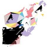 Fond géométrique moderne coloré par résumé Photos libres de droits