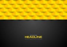 Fond géométrique noir et orange de contraste de technologie illustration de vecteur