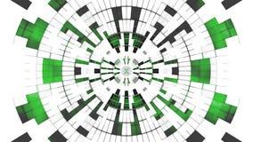 Fond géométrique numérique blanc vert illustration libre de droits