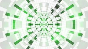 Fond géométrique numérique propre blanc vert illustration stock