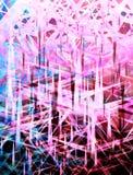 Fond géométrique pointu Photos libres de droits