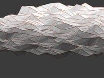Fond géométrique polygonal de formes d'abrégé sur moderne la science Photos libres de droits