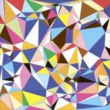 Fond géométrique polygonal de triangle colorée légère abstraite Photo stock