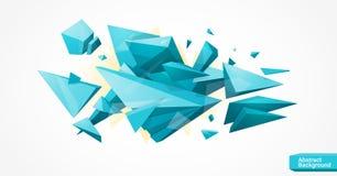 Fond géométrique polygonal lumineux Photo stock