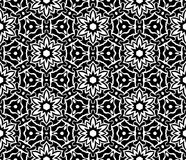 Fond géométrique répété sans couture noir et blanc de modèle d'art illustration de vecteur