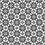 Fond géométrique répété sans couture noir et blanc de modèle d'art illustration stock