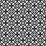 Fond géométrique répété sans couture noir et blanc de modèle d'art illustration libre de droits