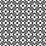 Fond géométrique répété sans couture noir et blanc de modèle d'art Textile, livres image stock