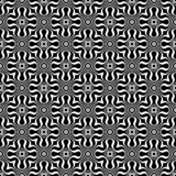 Fond géométrique répété sans couture noir et blanc de modèle de fleur décorative Textile, livres, streptocoque Illustration Libre de Droits