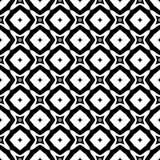 Fond géométrique répété sans couture noir et blanc de modèle de fleur décorative Textile, livres, streptocoque Illustration de Vecteur