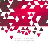 Fond géométrique rouge abstrait avec la triangle illustration de vecteur