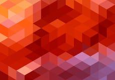 Fond géométrique rouge abstrait, vecteur Images libres de droits