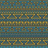Fond géométrique sans couture foncé Images stock