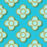 Fond géométrique sans joint Modèle bleu et orange du cercle 3d illustration stock