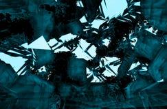 Fond géométrique unique d'isolement par résumé Photo libre de droits