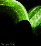 Fond géométrique vert de technologie de vecteur. EPS10 Images stock
