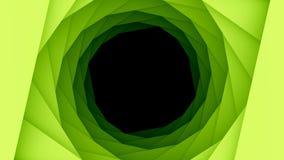 Fond géométrique vert de trou de cercles illustration de vecteur