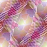 Fond gai avec les coeurs et le point Effet de transparent avec des couleurs en pastel douces illustration de vecteur