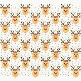 Fond gai de fête avec les chefs de cerfs communs et l'escroc multicolore illustration de vecteur