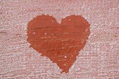 Fond givré avec le coeur Photographie stock libre de droits