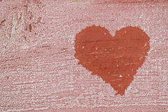 Fond givré avec le coeur Photo libre de droits