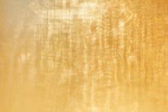 Fond givré d'or de texture en métal images stock
