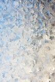 Fond givré de verre de fenêtre d'hiver Photos stock