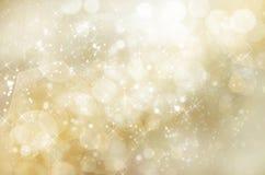 Fond Glittery de Noël d'or Photographie stock libre de droits