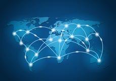 Fond global de connexion réseau illustration de vecteur