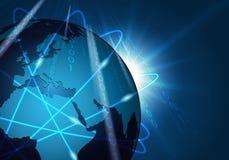 Fond global de connexion réseau illustration stock