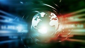 Fond global de technologie d'Internet Images stock