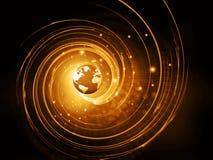 Fond global de technologie d'Internet Photographie stock