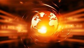 Fond global de technologie d'Internet Photo libre de droits