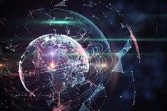 Fond global de technologie dans le bleu illustration stock