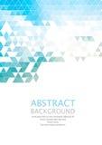Fond géométrique abstrait de vecteur rétro Conception de brochure de calibre Images stock